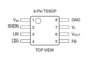 FAN4855MTCX pin connection