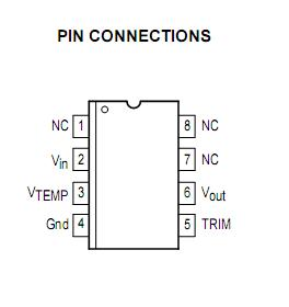 MC1404P5 Pin Connections
