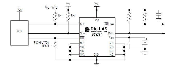 DS3231SN Operating Circuit
