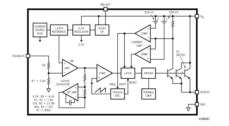 LM2596S-5 block diagram