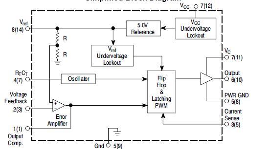 UC3845N block diagram