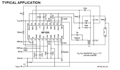 MP1026EF block diagram