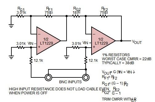 LT1229CS8#TR typical applications