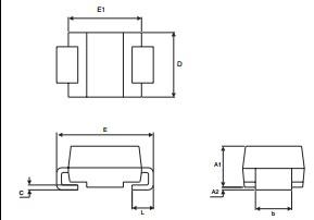 STTH3R06U package dimensions