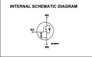 STF3NK80Z  internal schematic diagram