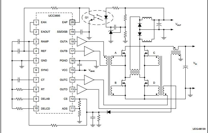 UCC3895DW application diagram