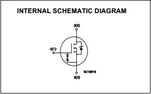 STP9NK50ZFP  internal schematic diagram