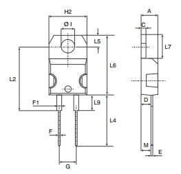 STTH1210D package dimensions