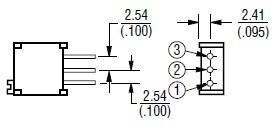 3296w-1-501LF dimensions