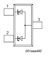 PESD12VS2UT simplified outline and symbol