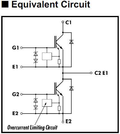 2MBI75J-120 pin connection
