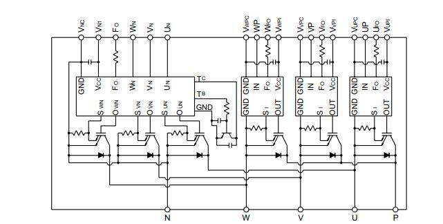PM200DSA060 Circuit