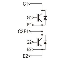 2MBI75S-120 Equivalent Circuit
