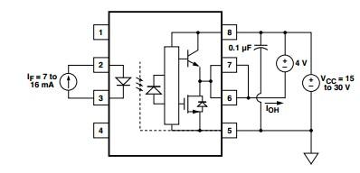 HCPL-3150 circuit diagram