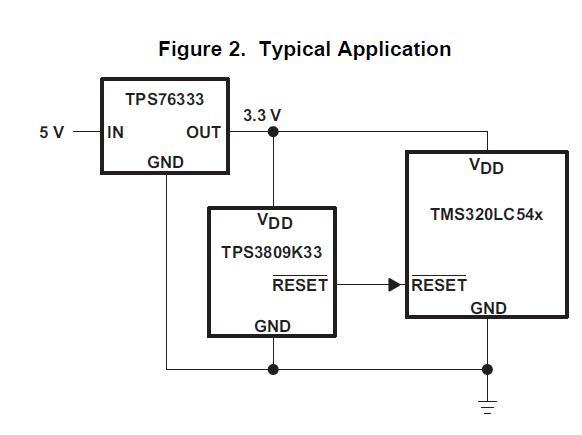 TPS3809K33DBVR circuit diagram