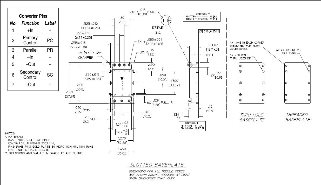 V300C12C150BL dimension
