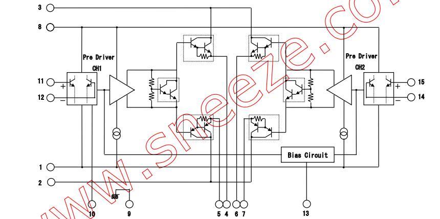 STK403-130 block diagram.