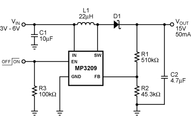 MP3208 on 3 pin variable resistor datasheet