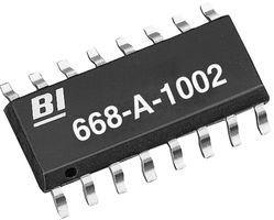 668-A-1002FLF - RESISTOR, BUS RES N/W 8, 10KOHM, 1%, SOIC detail