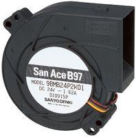 9BMB24P2G01 - BLOWER FAN, DC, 95X97X33MM, 24V detail