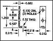 708 - MOUNTING BRACKET detail