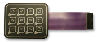 AC3560FILL - KEYPAD, MEMBRANE, LED, 3X4 detail
