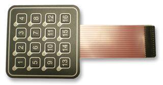 AC3561FILL - KEYPAD, MEMBRANE, LED, 4X4 detail