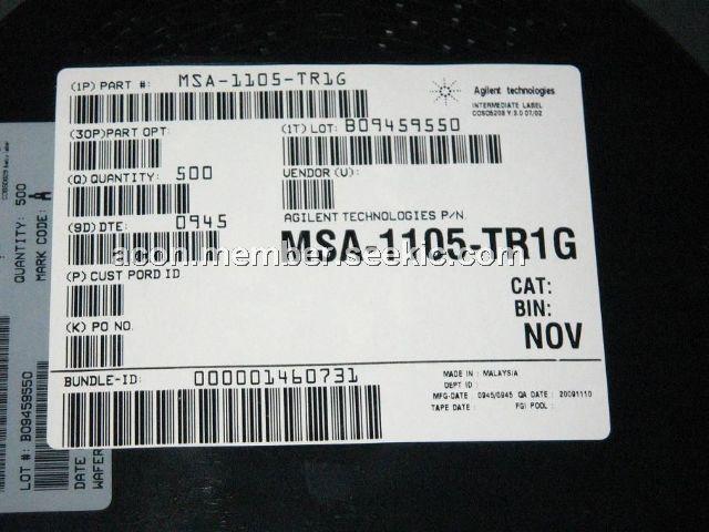 MSA-1105-TR1G Original supply, US $ 0 1-0 2 , [Avago] AVAGO
